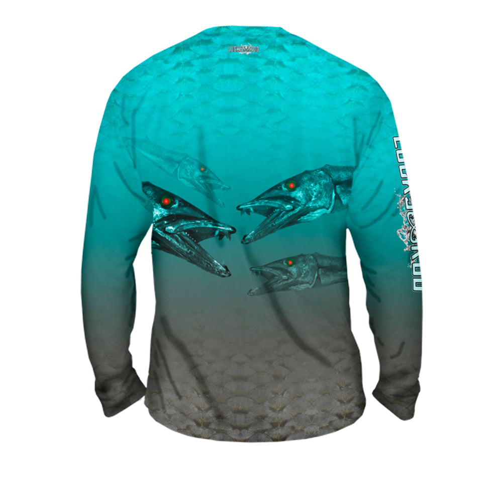 Nasty Barracuda Mens Performance Long Sleeve Allover