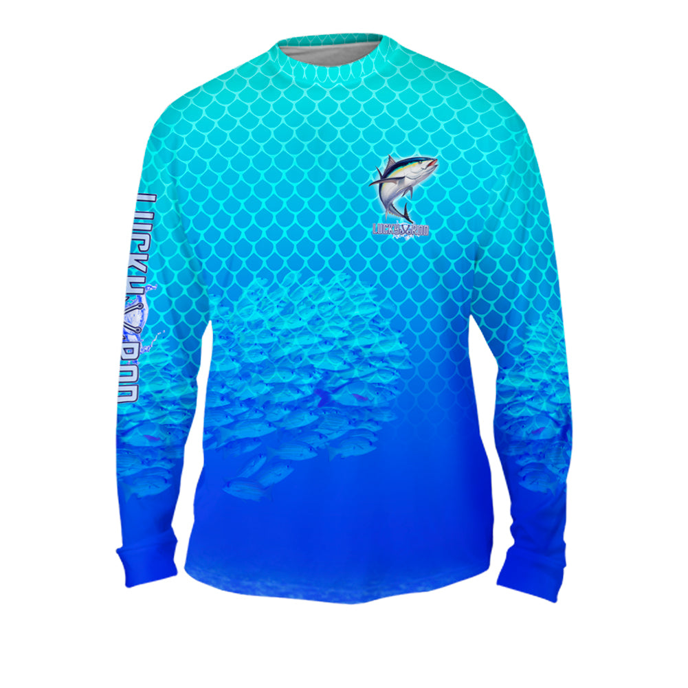 Tuna Chomp Mens Performance Long Sleeve Allover