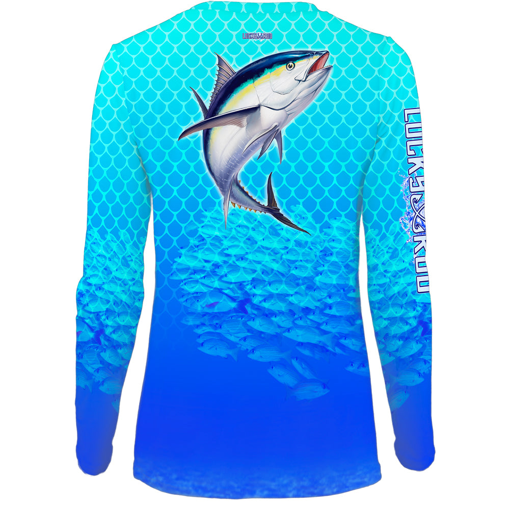 Tuna Chomp Womens LS V-Neck