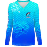 Marlin Chomp Womens LS V-Neck