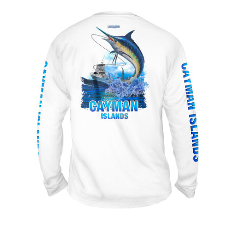 Lucky Day Marlin - Mens Performance Long Sleeve Spot Print