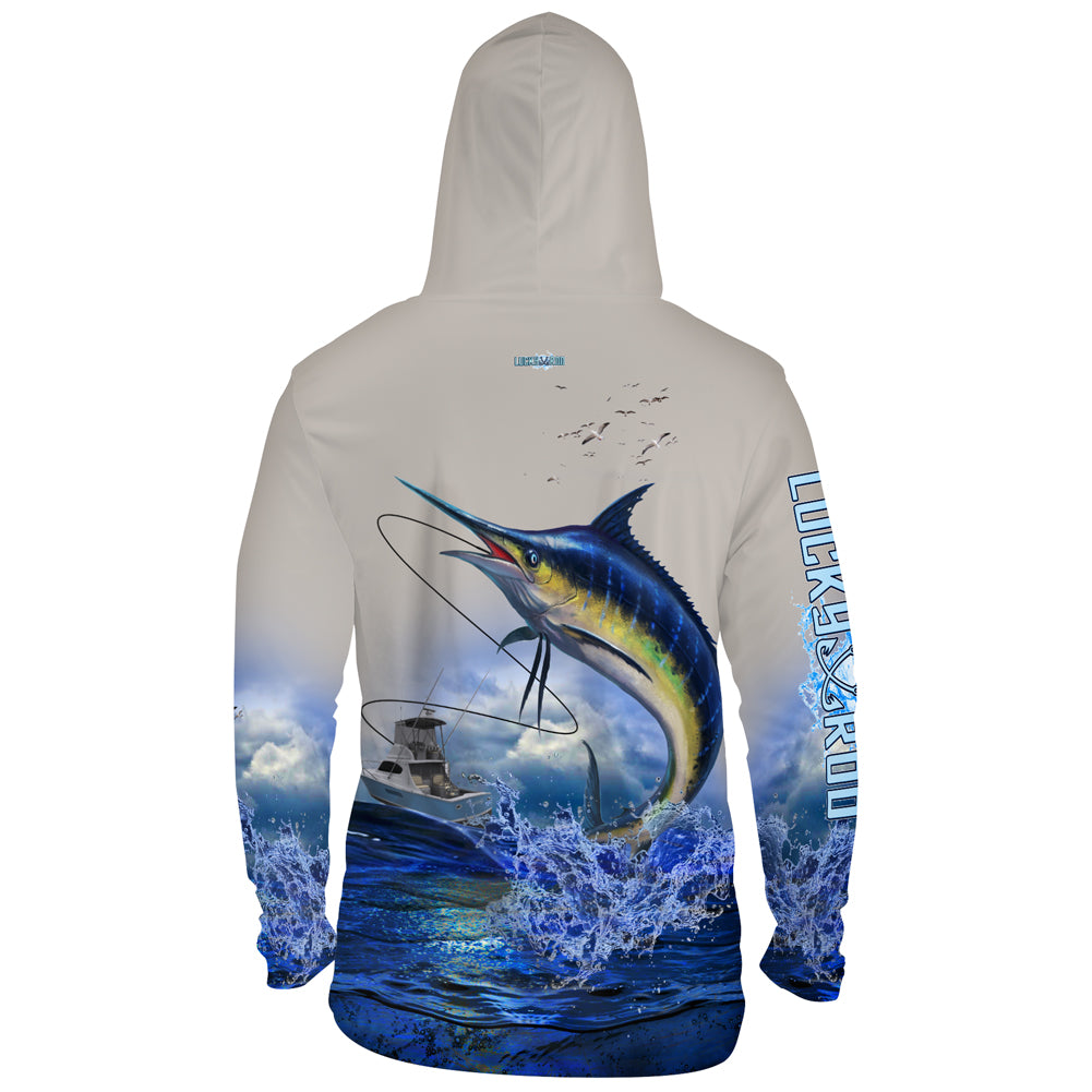 Lucky Day Marlin Mens Performance LS With Hood
