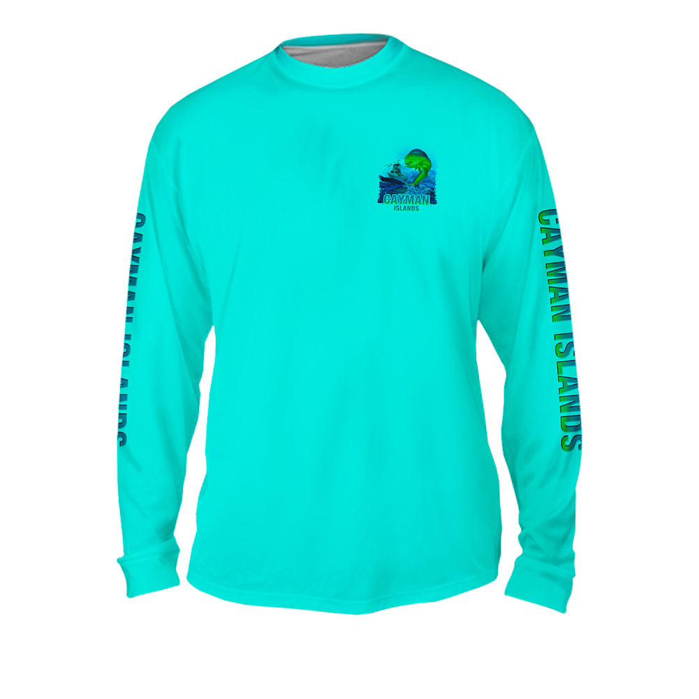 Lucky Day Mahi - Mens Performance Long Sleeve Spot Print