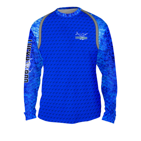 Marlin Fight Shadow Mens Performance Long Sleeve Allover