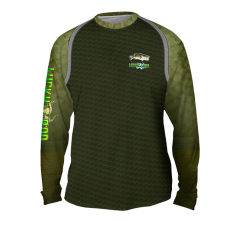 Bass Skin Shadow Mens Performance Long Sleeve Allover