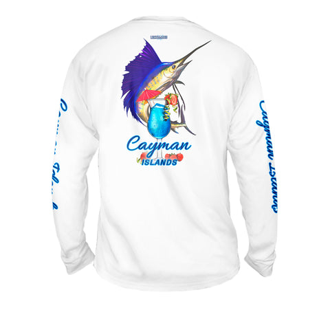 Mahi Drink - Mens Performance Long Sleeve Spot Print