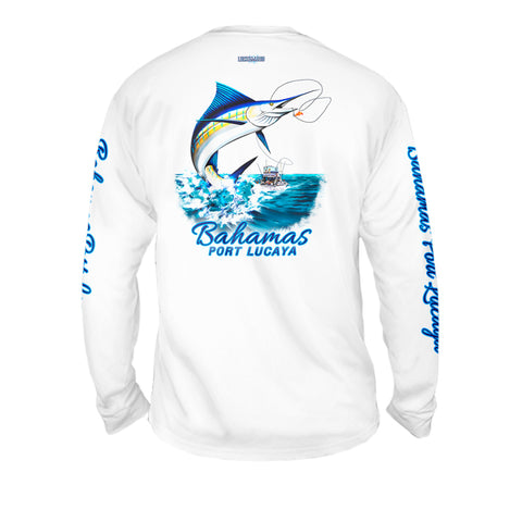 Marlin Troll - Mens Performance Long Sleeve Spot Print