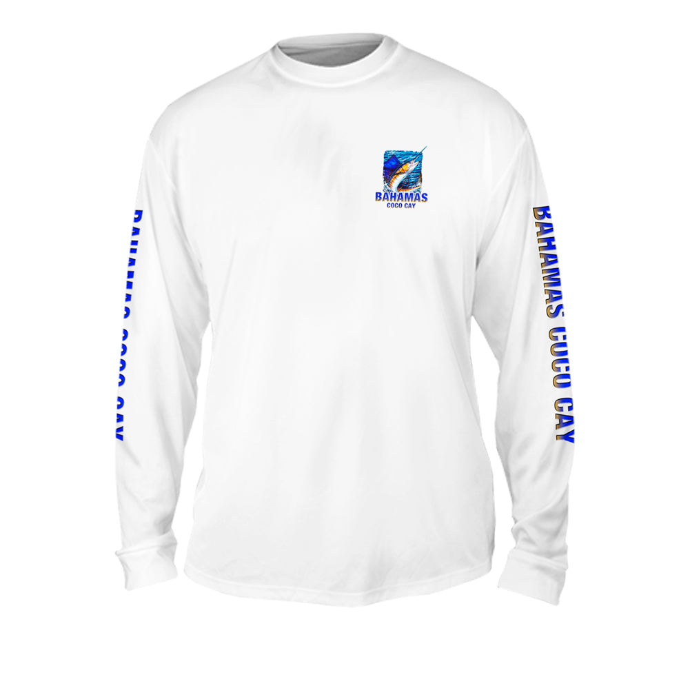 Sailfish Sea Style - Mens Performance Long Sleeve Spot Print