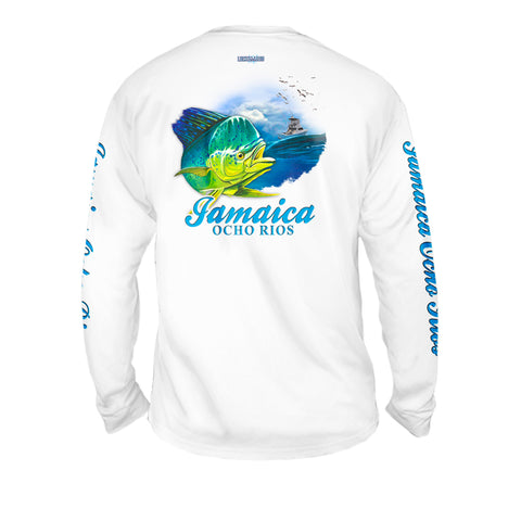Dorado Wave - Mens Performance Long Sleeve Spot Print