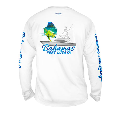 Mahi Offshore Fishing - Mens Performance Long Sleeve Spot Print
