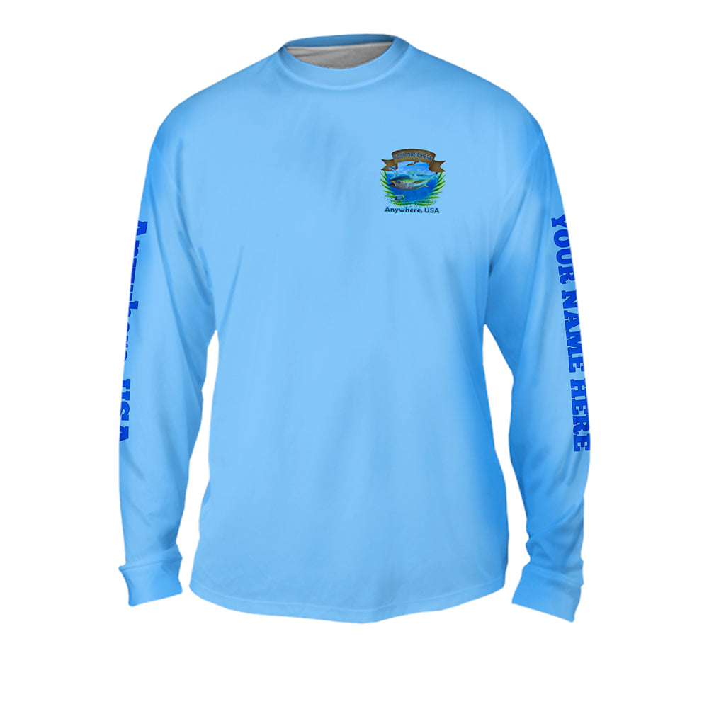 Salty Tuna - Mens Performance Long Sleeve Spot Print