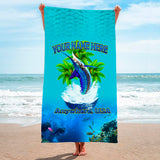 Splashing Marlin Leap - Premium & Standard Towel