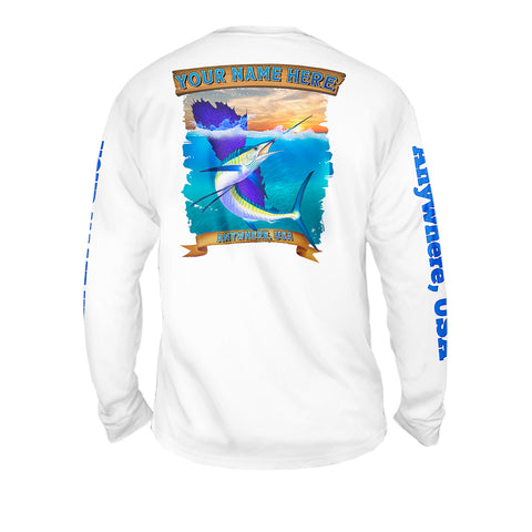 Surrender The Booty Map - Mens Performance Long Sleeve Spot Print
