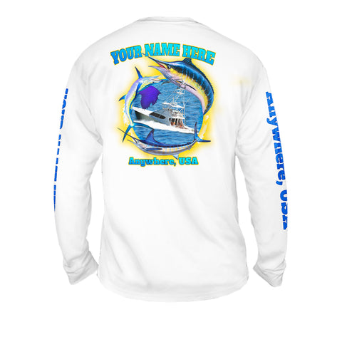 Salt Chase - Mens Performance Long Sleeve Spot Print