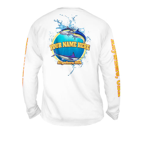 Deep Blue Life - Mens Performance Long Sleeve Spot Print