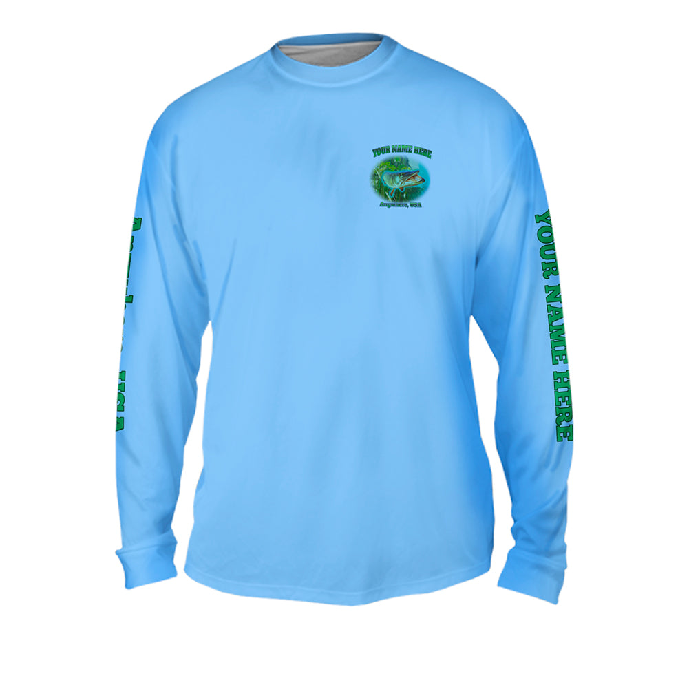 Muskie Bite - Mens Performance Long Sleeve Spot Print