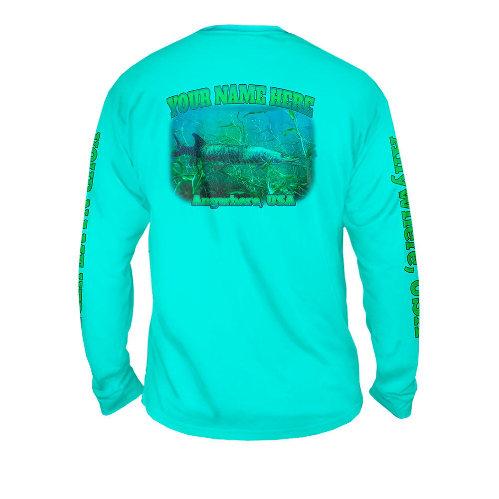 Muskie Life - Mens Performance Long Sleeve Spot Print
