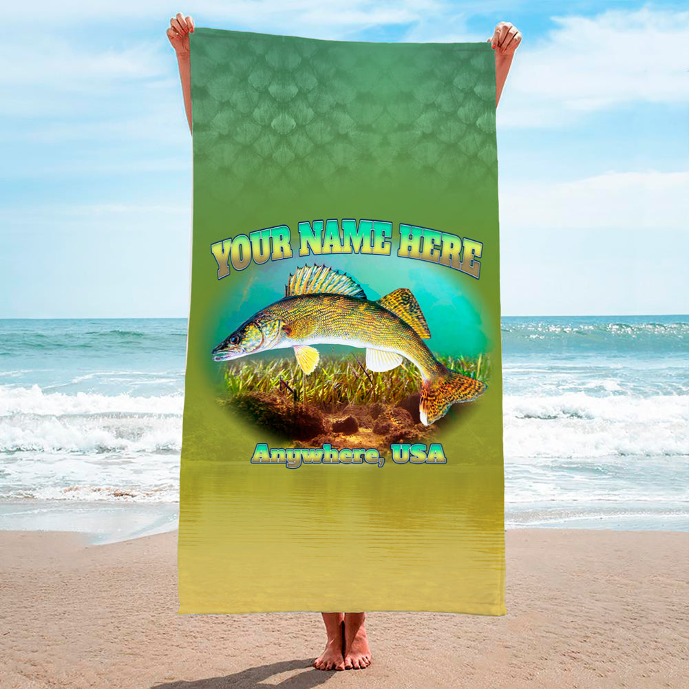 Walleye Flash - Premium & Standard Towel
