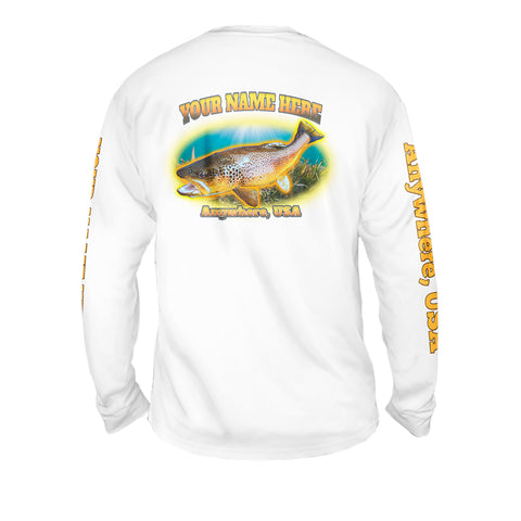 Spotted Trought Quake - Mens Performance Long Sleeve Spot Print