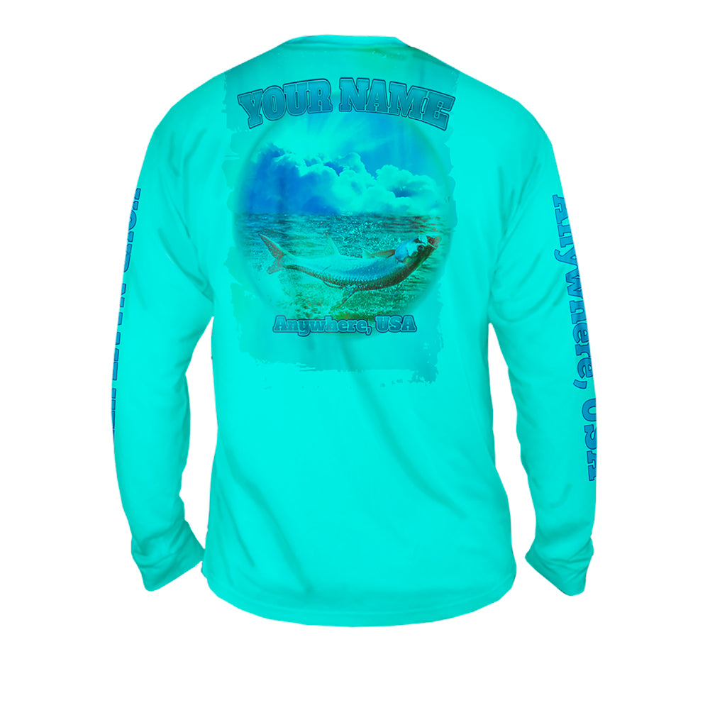Tarpon Splash - Mens Performance Long Sleeve Spot Print