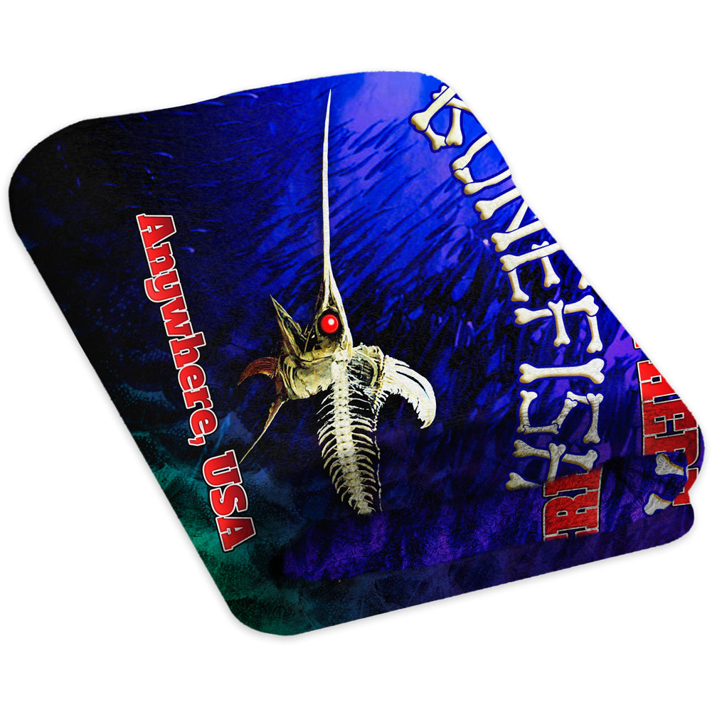 Bone Marlin Dark Night - Premium & Standard Towel