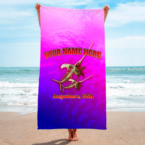 Bone Marlin Hot Pink - Premium & Standard Towel