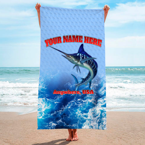 Blue Tiger Marlin - Premium & Standard Towel