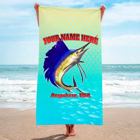Sailfish Spin Yellow Turquise - Premium & Standard Towel