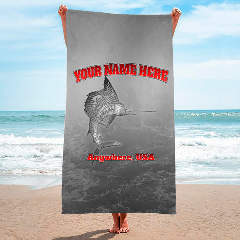 Metallic Marlin Grey - Premium & Standard Towel