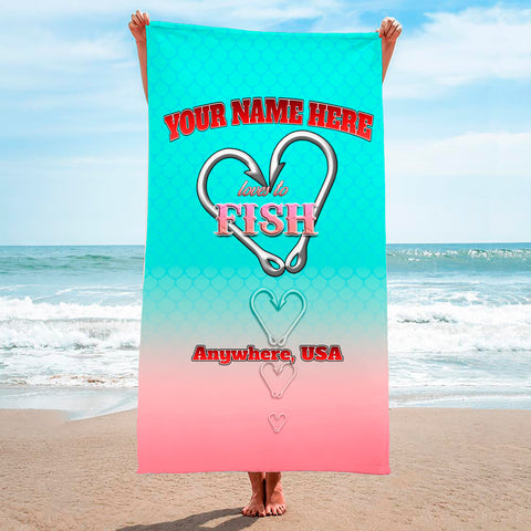 Love To Fish Sand - Premium & Standard Towel