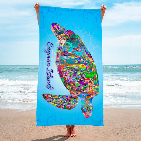 Color Splash Turtle - Premium & Standard Towel