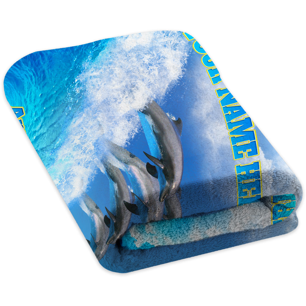 Dolphin Wave Ride - Premium & Standard Towel