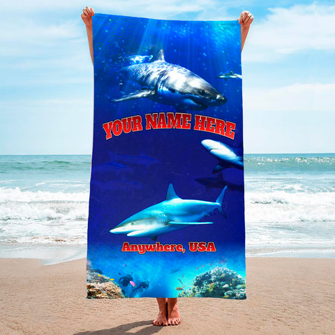 Great White Shark Reef - Premium & Standard Towel