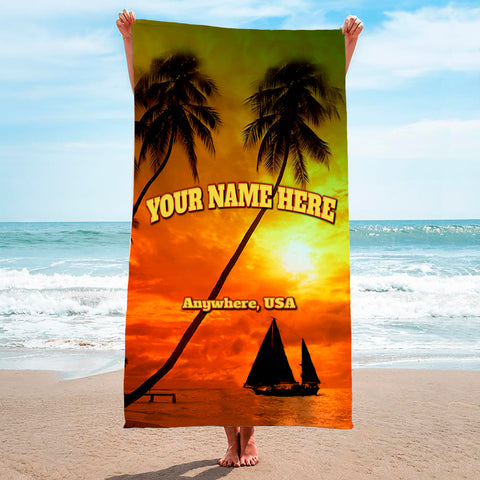 Tropical Sunset - Premium & Standard Towel