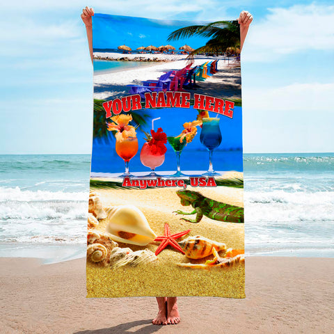 Drinks On The Beach - Premium & Standard Towel