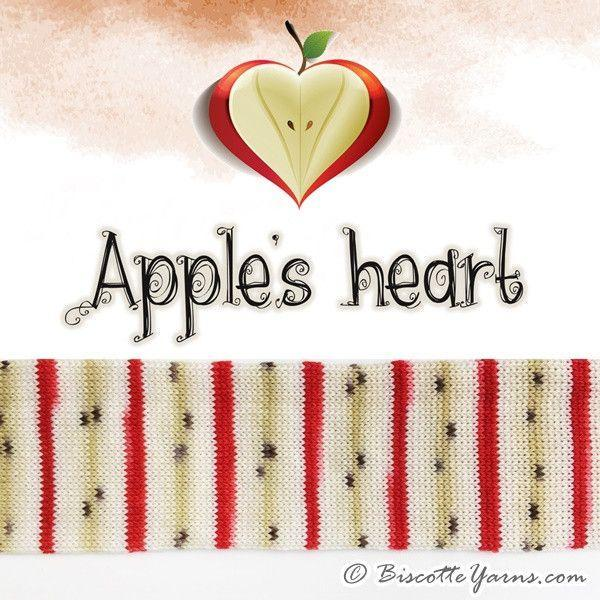 Biscotte Sock Apple's Heart