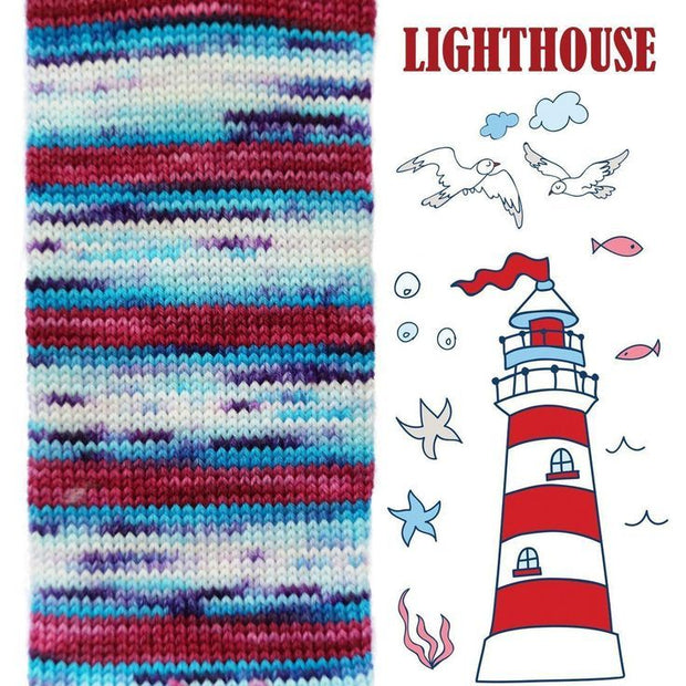 Biscotte Sock Light house