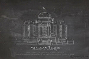 Meridian Elevation Open Edition Print / 12 X 18 Only Art