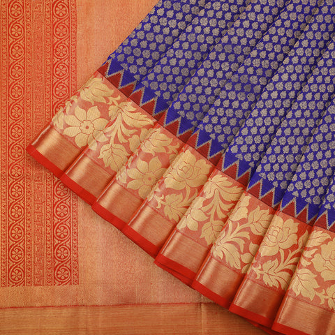Royal blue kanjivaram saree