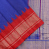 Blue and Red Dupion Saree