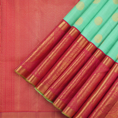 Sea green kanjivaram saree