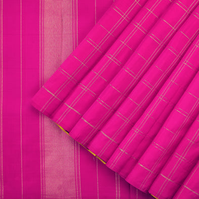 Yellow and Magenta Bridal Kanjivaram Silk
