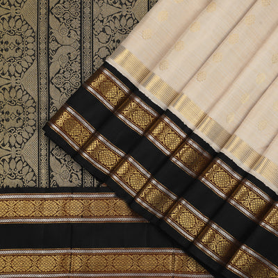 Light Beige Kanjivaram Silk Saree