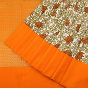 Off white tussar silk saree