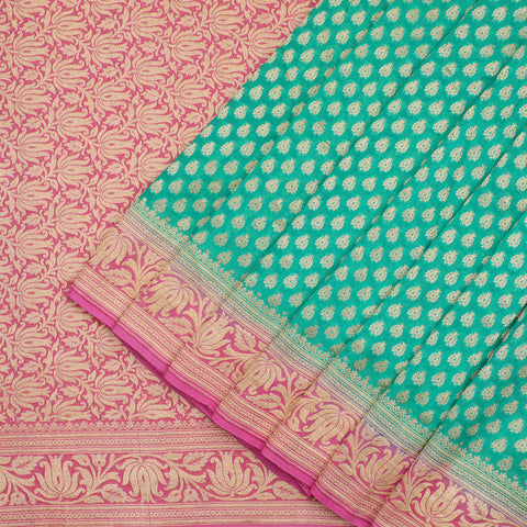 Aqua Green Benarasi Georgette Saree