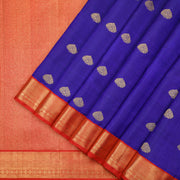 Rich royal blue Kanchipuram silk handloom saree
