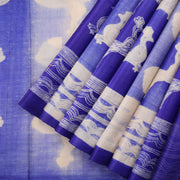 Indigo shaded tussar silk