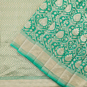 Persian Green Banarasi Silk Saree
