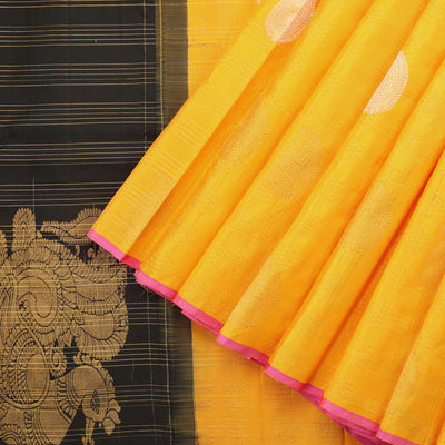 Sunflower Yellow Occassion Wear Kanjivaram Silk Saree