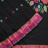 Organic Cotton Black Saree with Resham Work